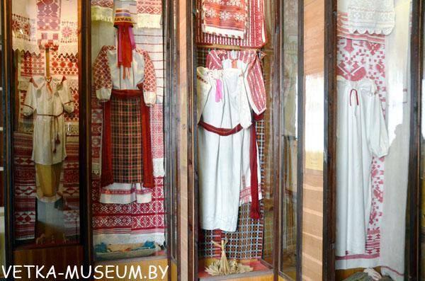 Экспазіцыя ткацтва ў Веткаўскім музеі